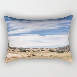 Dry meadows and rolling hills near Julian, CA Rectangular Pillow