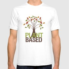 Plant Based Fall Tree Mens Fitted Tee White MEDIUM