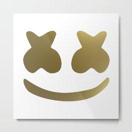 Marshmello Golden Metal Print