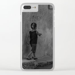 Get in line Clear iPhone Case