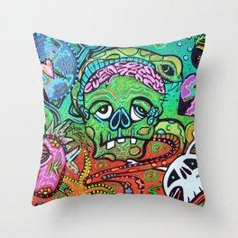 Wild Zombie Throw Pillow