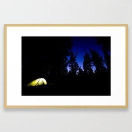 Camp at Last Light Framed Art Print