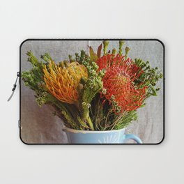 Flowers in a vase - with Pincushion Protea Laptop Sleeve