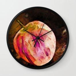 Pink and Orange Apple Wall Clock