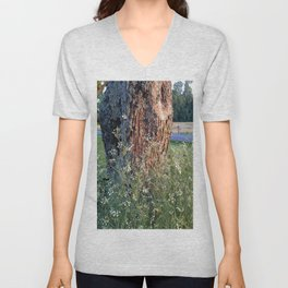 The Tree At Sunset Unisex V-Neck