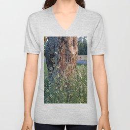 The Tree At Sunset Unisex V-Neck