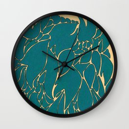 Blue Number 1 Wall Clock