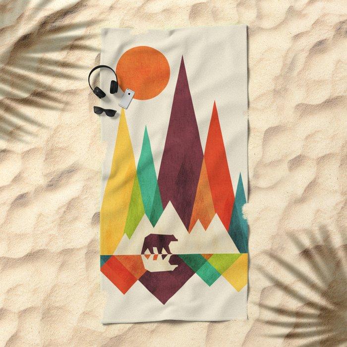 Bear In Whimsical Wild Beach Towel