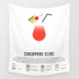 Singapore Sling Wall Tapestry