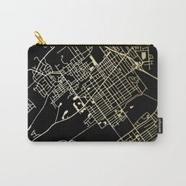 Wilkes-Barre Gold and Black Map Carry-All Pouch