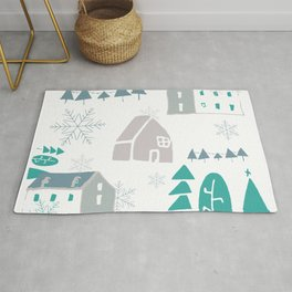 winter holiday houses Rug