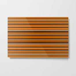 Orange brown lines Metal Print