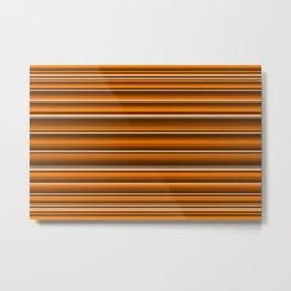 Orange brown lines Metal Print