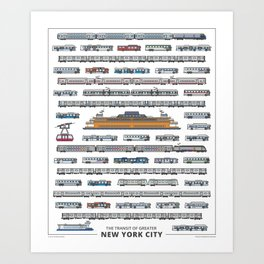 The Transit of Greater New York City Art Print