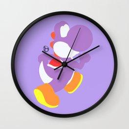 Yoshi(Smash)Purple Wall Clock