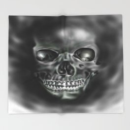 Ghastly Skull Throw Blanket