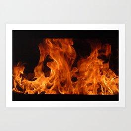 Study of Flame Art Print