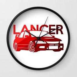 Mitsubishi Lancer Evo - classic red - Wall Clock