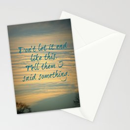 Let It End Stationery Cards