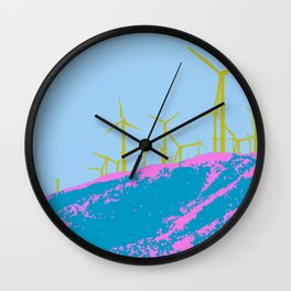 Palm Springs Wind Farm, California Wall Clock
