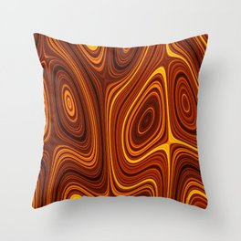 Amber Lava 3 Hi Res Throw Pillow