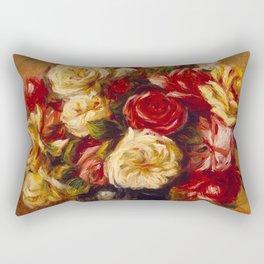"Auguste Renoir ""Bouquet of Roses"" Rectangular Pillow"