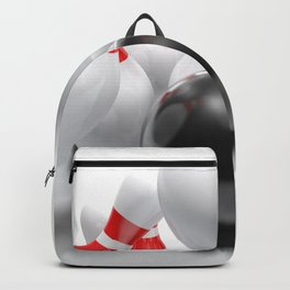 Bowling bowl striking the pins - 3D rendering Backpack