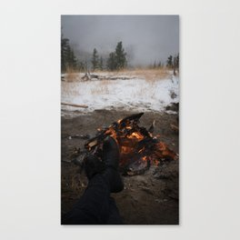 Fire in late fall Canvas Print