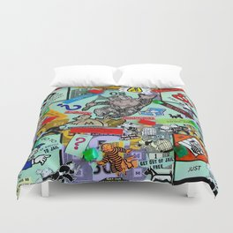 Vintage Monopoly Game Memories Duvet Cover