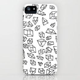 Geometric impulse iPhone Case