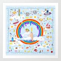 Sky Atlantic Art Print
