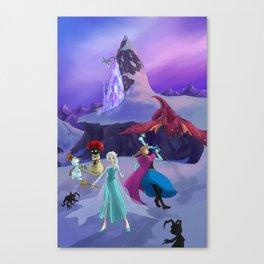 Frozen Hearts Canvas Print