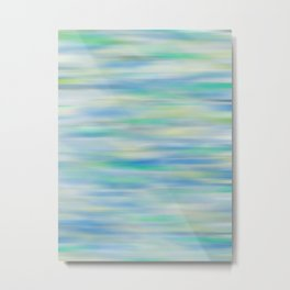Blue, Green Abstract Metal Print