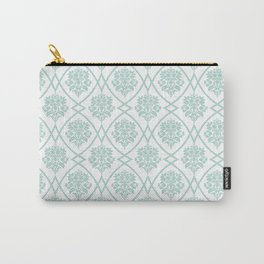 Seafoam Damask Carry-All Pouch