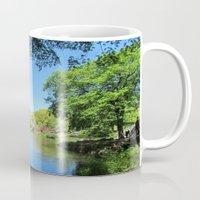 central park Mugs featuring Central Park by Burcu Tekin