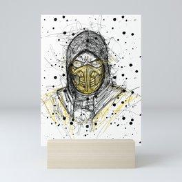 Scribble Scorpion Mini Art Print