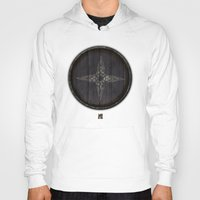 skyrim Hoodies featuring Shield's of Skyrim - Downstar by VineDesign