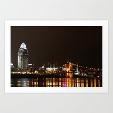 Cincinnati Roebling Bridge Art Print