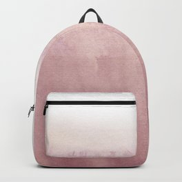 Modern creative blush pink watercolor ombre Backpack