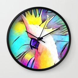 Cockatoo Portrait Wall Clock