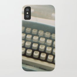 Blue Typewriter TTV iPhone Case
