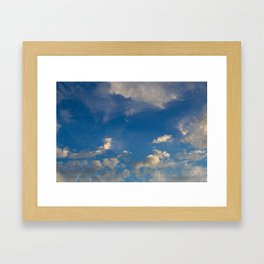 Something In The Clouds I Framed Art Print