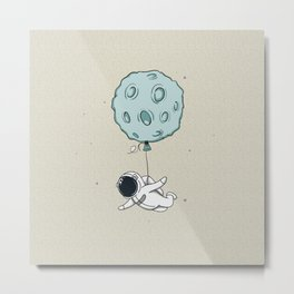 Baby Spaceman Metal Print