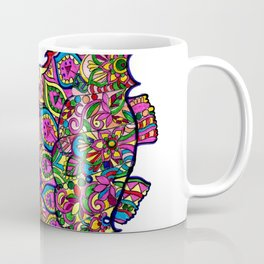 Seahorse colourful mandala Coffee Mug