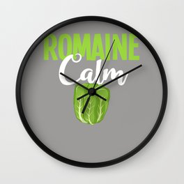 Romaine Calm Gift Dietician Salad Hearts Wall Clock