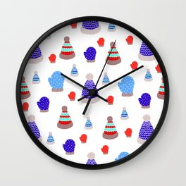 Mittens and Hats Wall Clock