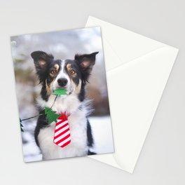 Winter dog holidays Stationery Cards