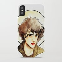 grantaire iPhone & iPod Cases featuring Grantaire by chazstity