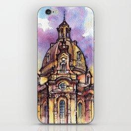 Dresden ink & watercolor illustration iPhone Skin