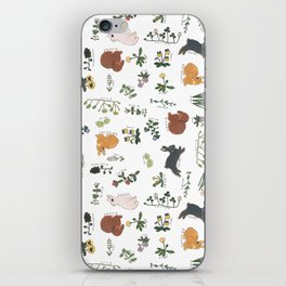 Bunnies and spring flowers iPhone Skin